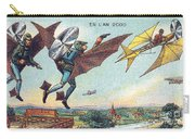 Flying Policemen, 1900s French Postcard Carry-all Pouch