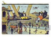 Flying Taxicabs, 1900s French Postcard Carry-all Pouch