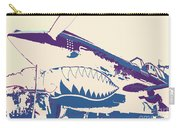 Flying Tiger Blue Purple  Carry-all Pouch