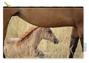 Foal And Mare In A Saskatchewan Pasture Carry-all Pouch
