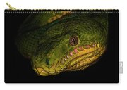 Focus - A Close Look At An Emerald Boa Constrictor Carry-all Pouch