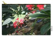 Focus In The Center - Black And White Butterfly Carry-all Pouch
