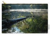 Fog And Reflection Of Stream Carry-all Pouch