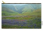 Fog And Wildflowers At Bear Mountain Carry-all Pouch