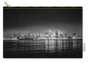 Fog Shrouded Midtown Manhattan In Black And White Carry-all Pouch