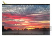 Foggy Carpet Over South Carolina Cattle Farm Carry-all Pouch by Alex Grichenko