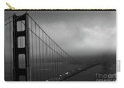 Foggy Golden Gate Bridge In Bw Carry-all Pouch