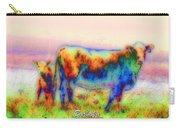 Foggy Mist Cows #0090 Arty Carry-all Pouch