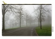 Foggy Morning At The Park Winding Path Carry-all Pouch