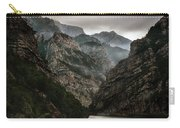 Foggy Mountains Over Neretva Gorge Carry-all Pouch