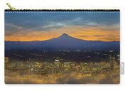 Foggy Portland City Downtown At Dawn Carry-all Pouch