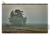 Foggy Tree In The Field Carry-all Pouch