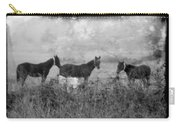 Horse Trio In Morning Fog Carry-all Pouch