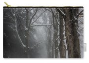 Foggy Vermont Winter Path Carry-all Pouch