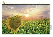 Foggy Yellow Fields 3 Carry-all Pouch