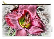 Foiled Beauty - Daylily Carry-all Pouch