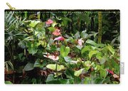 Foliage And Flowers Carry-all Pouch