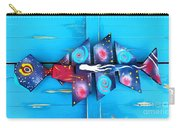 Folk Art Galactic Space Fish Carry-all Pouch