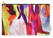 Folks At The Blue Sea By August Macke Carry-all Pouch