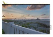 Folly Pier Sunrise Carry-all Pouch