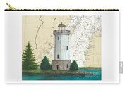 Fon Du Lac Lighthouse Wi Nautical Chart Map Map Carry-all Pouch