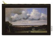 Fontainebleau Storm Over The Plains Jean-baptiste-camille Corot Carry-all Pouch