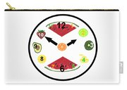 Food Clock Carry-all Pouch
