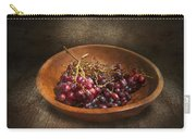Food - Grapes - A Bowl Of Grapes  Carry-all Pouch by Mike Savad