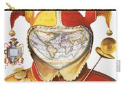 Fools Cap World Map, C1590 Carry-all Pouch