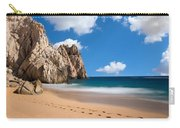 Foot Prints In Cabo Carry-all Pouch