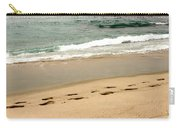 Foot Prints In The Sand.jpg Carry-all Pouch