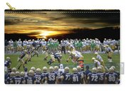 Football Field-notre Dame-navy Carry-all Pouch