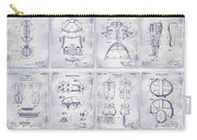 Football Patent History Blueprint Carry-all Pouch