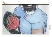 Football Player Carry-all Pouch by Loretta Nash