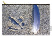 Footprint And Feather Carry-all Pouch