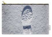 Footprint In Snow Carry-all Pouch