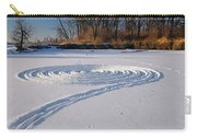 Footprint Snow Ring On A Frozen River In Winter At The Toronto I Carry-all Pouch
