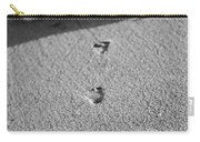 Footprints In The Sand Black And White Carry-all Pouch