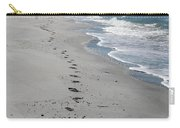 Footsprints In The Sand Carry-all Pouch