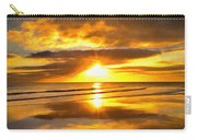 Footsteps  Beneath The Sunset I  Carry-all Pouch