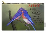 For Love Of Bluebirds And Scripture Carry-all Pouch