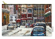 For Sale Original Paintings Montreal Petits Formats A Vendre Downtown Montreal Rue Stanley Cspandau  Carry-all Pouch