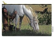 For The Love Of His Horse Carry-all Pouch