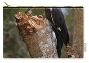 Foraging Pileated Woodpecker Carry-all Pouch