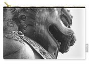 Forbidden City Lion - Black And White Carry-all Pouch