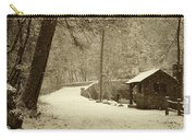 Forbidden Drive In Winter Carry-all Pouch by Bill Cannon