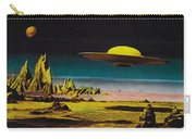 Forbidden Planet In Cinemascope Retro Classic Movie Poster Detailing Flying Saucer Carry-all Pouch