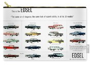 Ford Auto/edsel Ad, 1957 Carry-all Pouch
