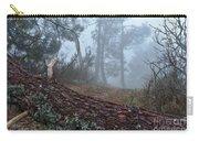 Forest And Fog In Serra Da Estrela Carry-all Pouch