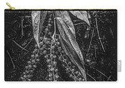 Forest Botanicals In Black And White Carry-all Pouch